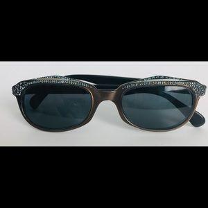Christian Dior Eyeglass Frames Blue Rhinestones